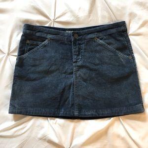 Vintage 2000's Guess Blue Corduroy Skirt